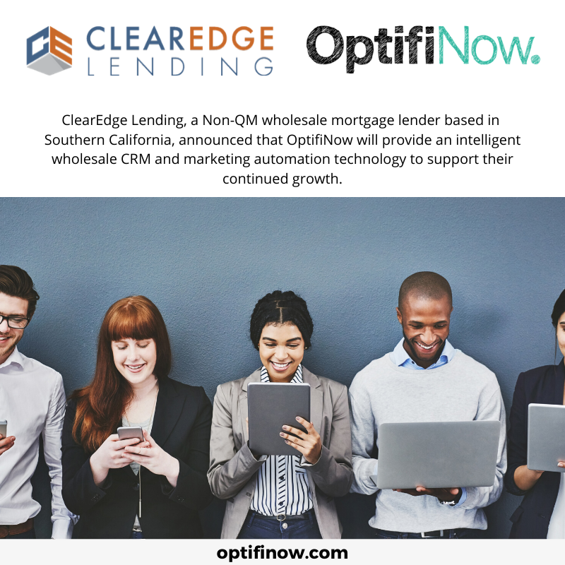 sales and marketing platform for mortgage lenders
